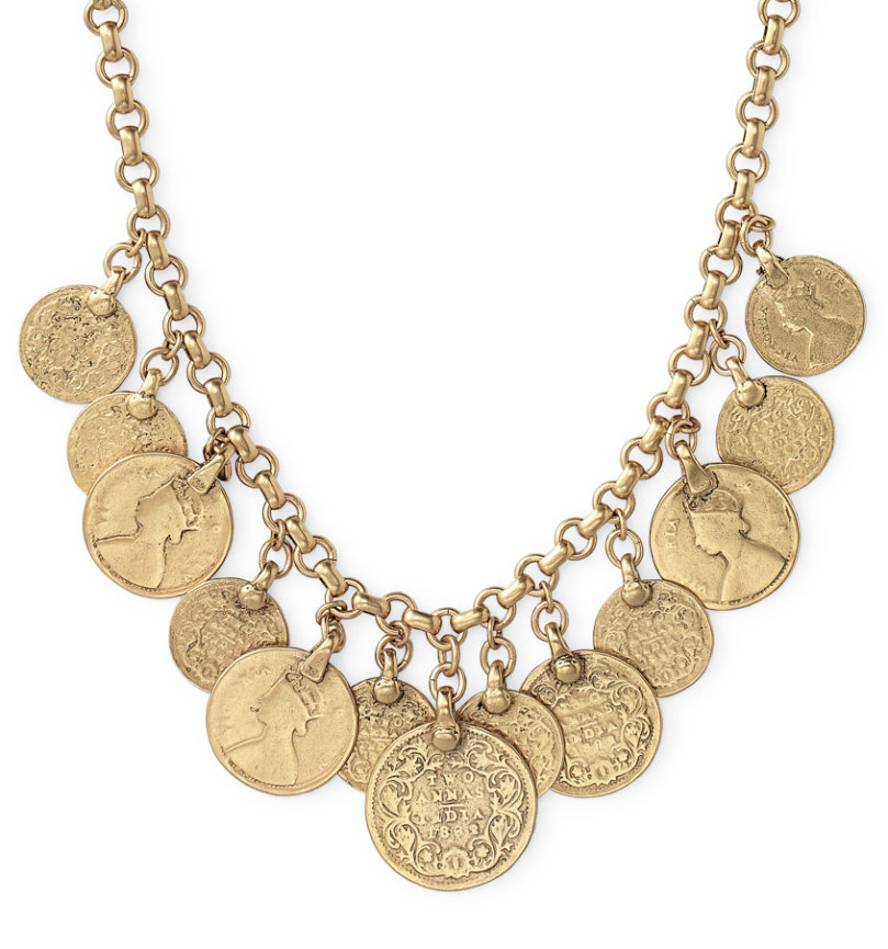 Rio single strand coin necklace, £51 in the sale, Stella & Dot
