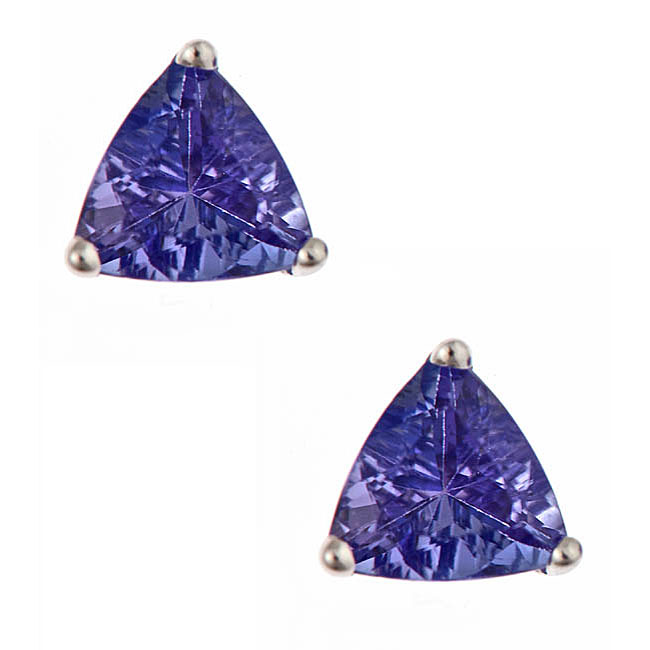 D'Yach 14k White Gold Tanzanite Stud Earrings, £126.49
