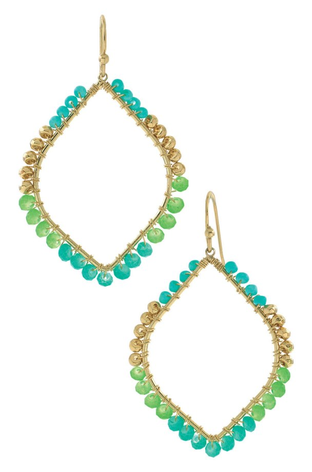 Raina Earrings (in turquoise) by Stella & Dot