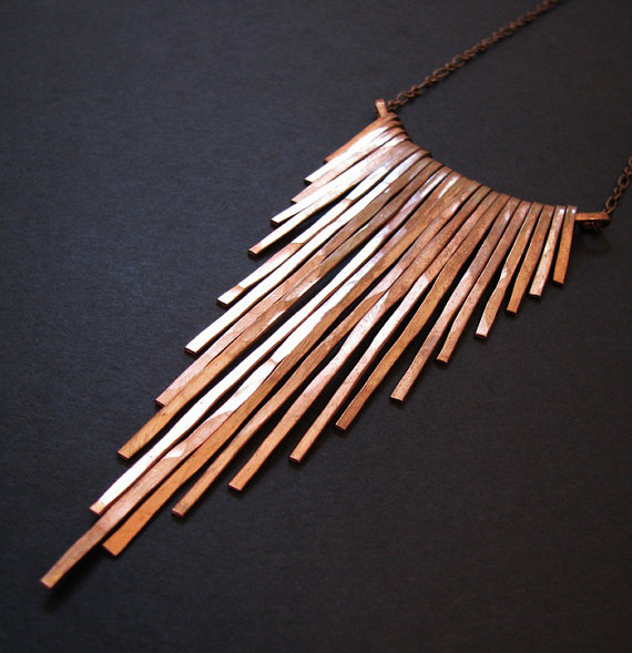 Copper Fringe Necklace, around £32 from Etsy.