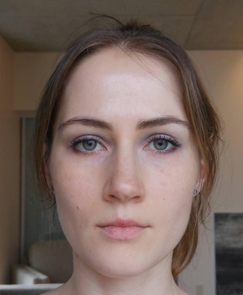 Maria wearing NARS Underworld eyeshadow