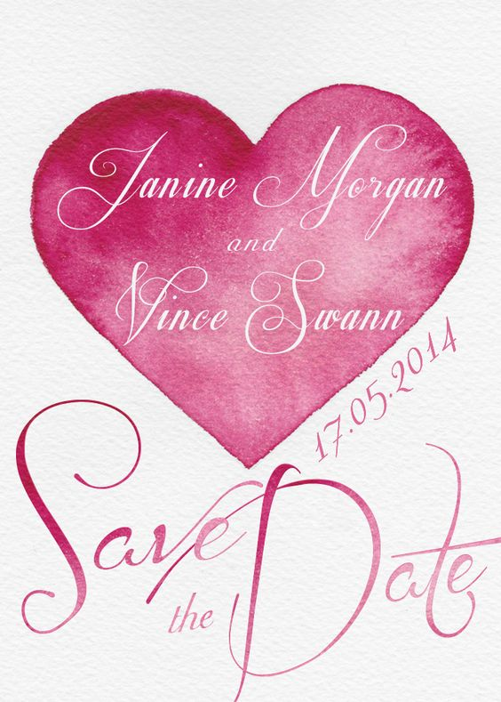 Save the Date, designed my moi