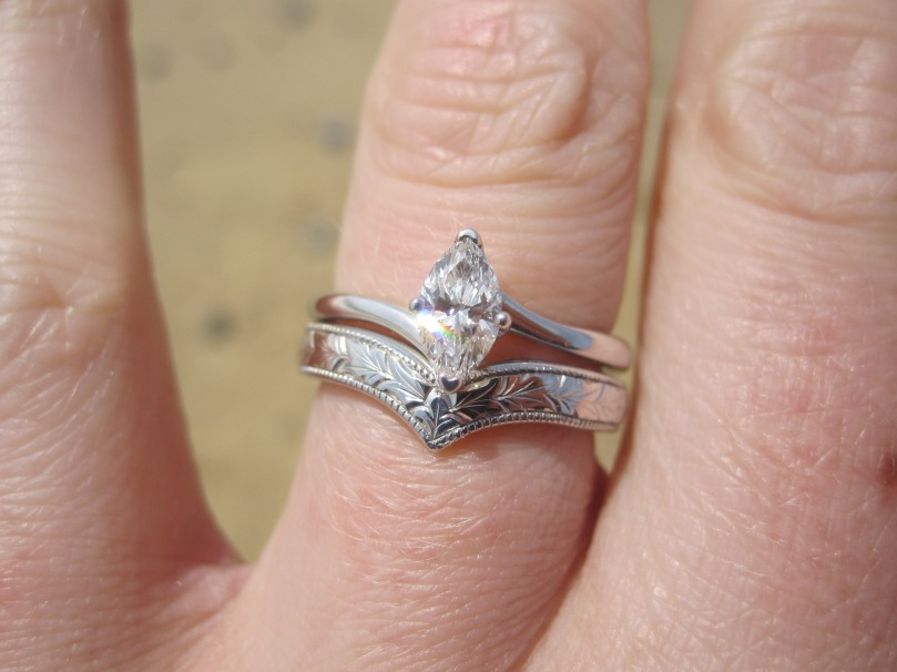 My engagement and wedding ring